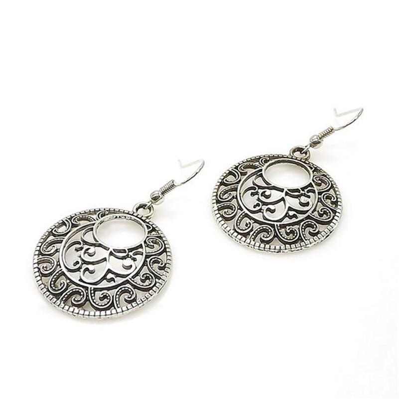 Women's Boho Style Round Shaped Earrings