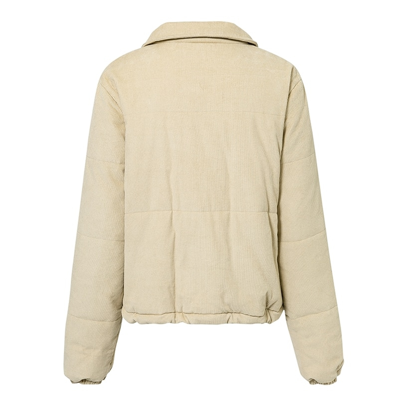 Women's Casual Corduroy Down Jacket
