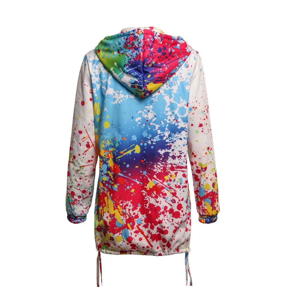 Women's Tie-Dye Print Hooded Jacket