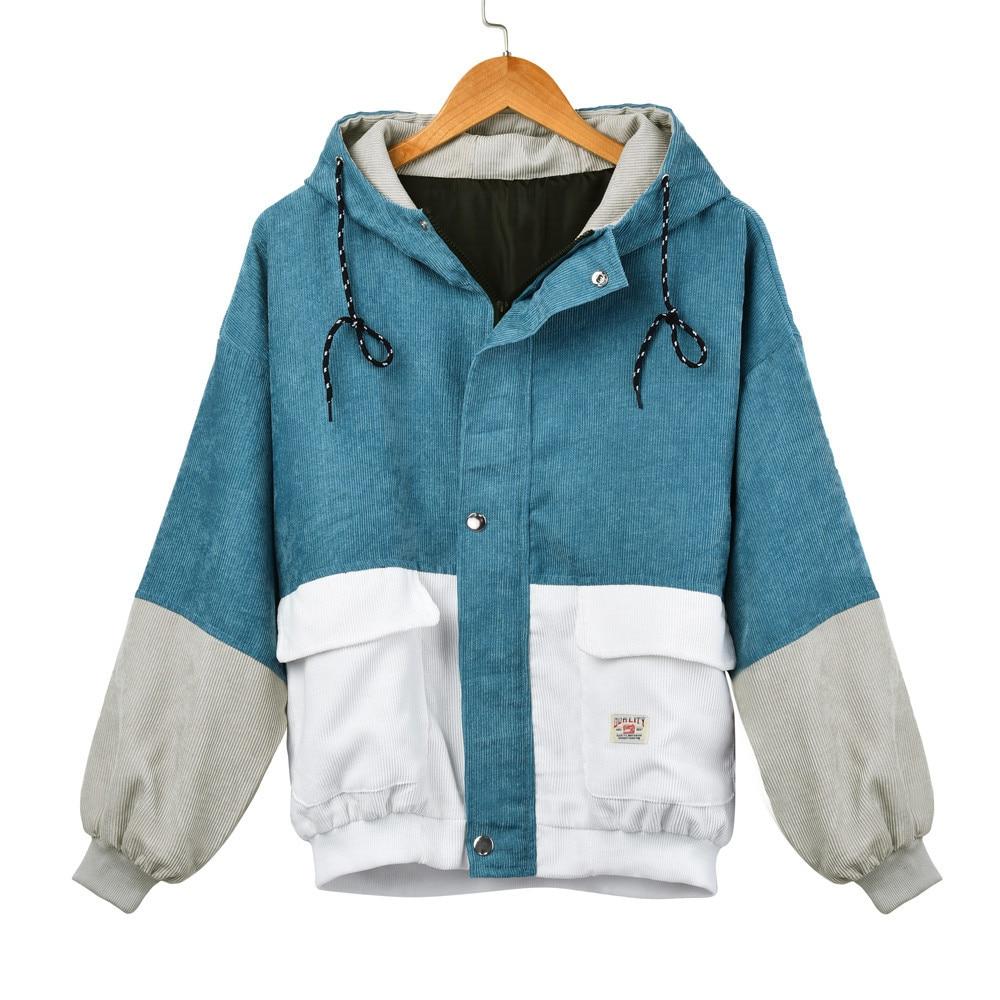 Women's Harajuku Style Corduroy Jacket