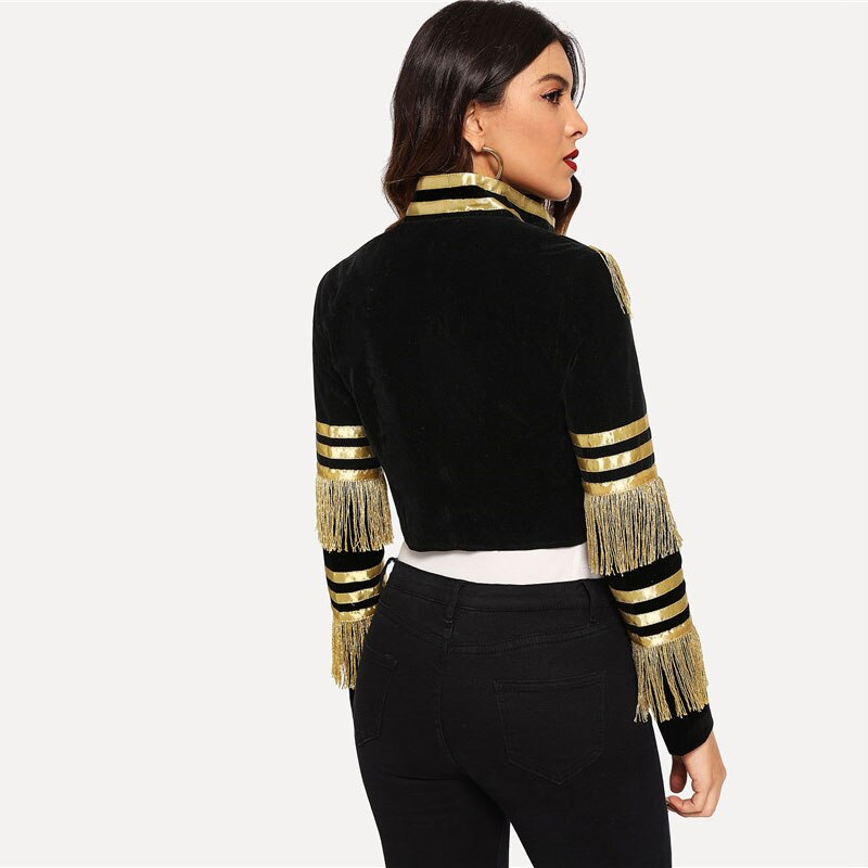 Women's Military Style Double Breasted Jacket