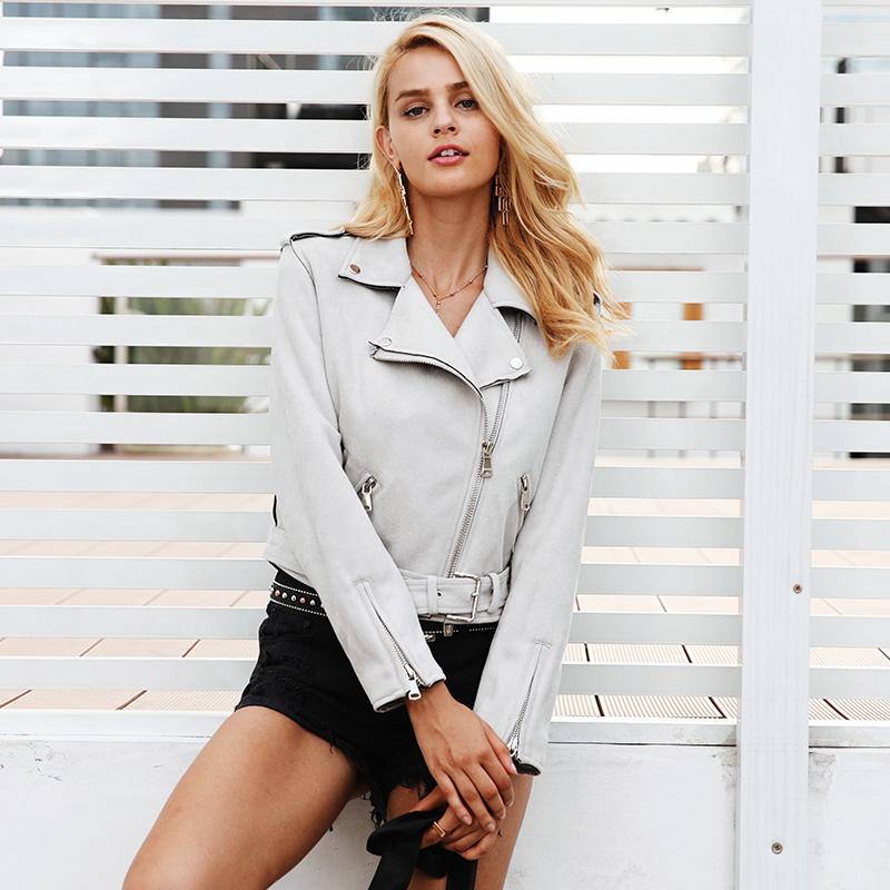 Women's Short Leather Jacket