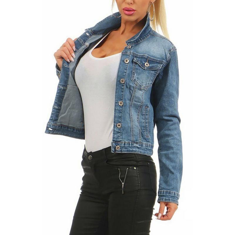Women's Frayed Denim Jacket