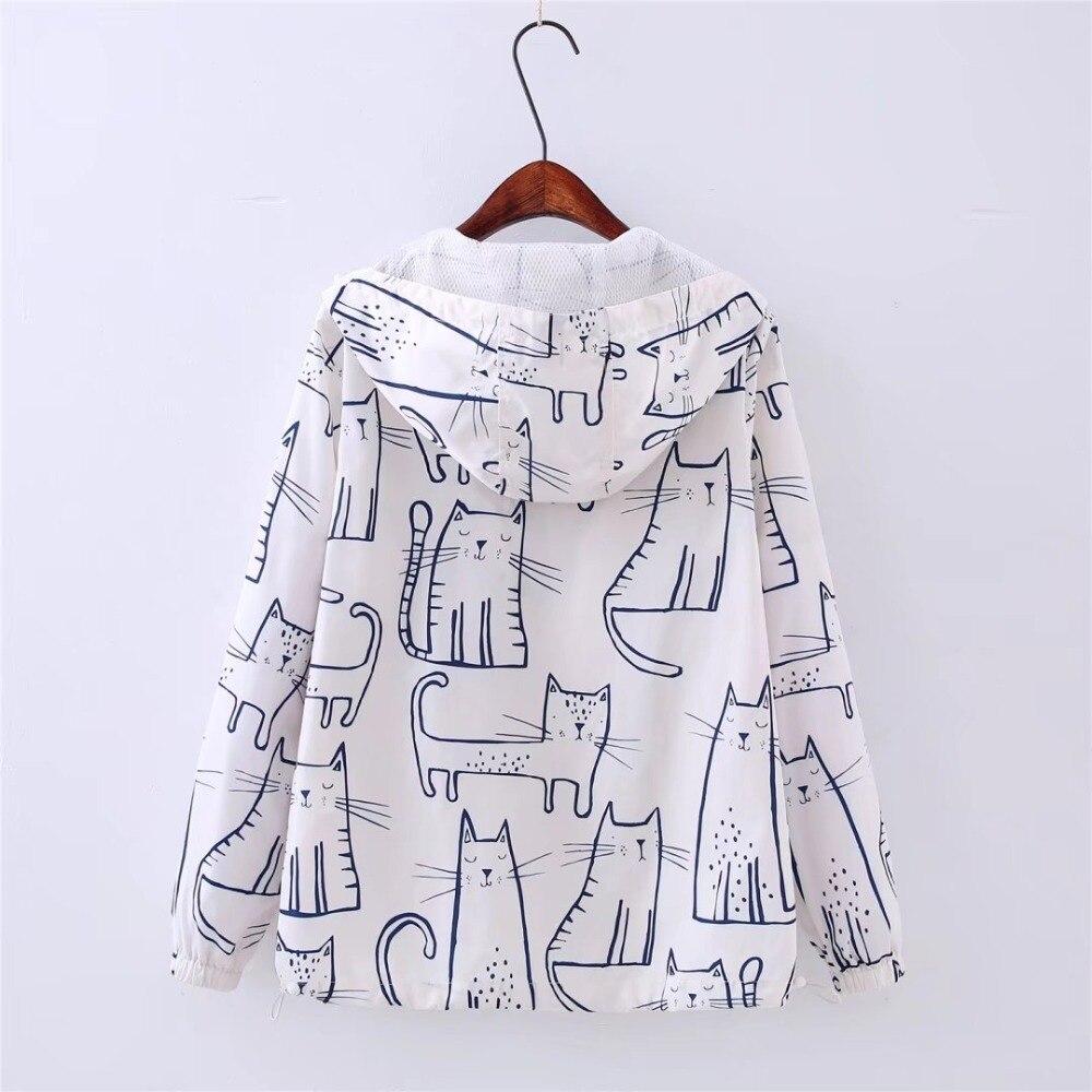 Women's Kawaii Cat Printed Jacket