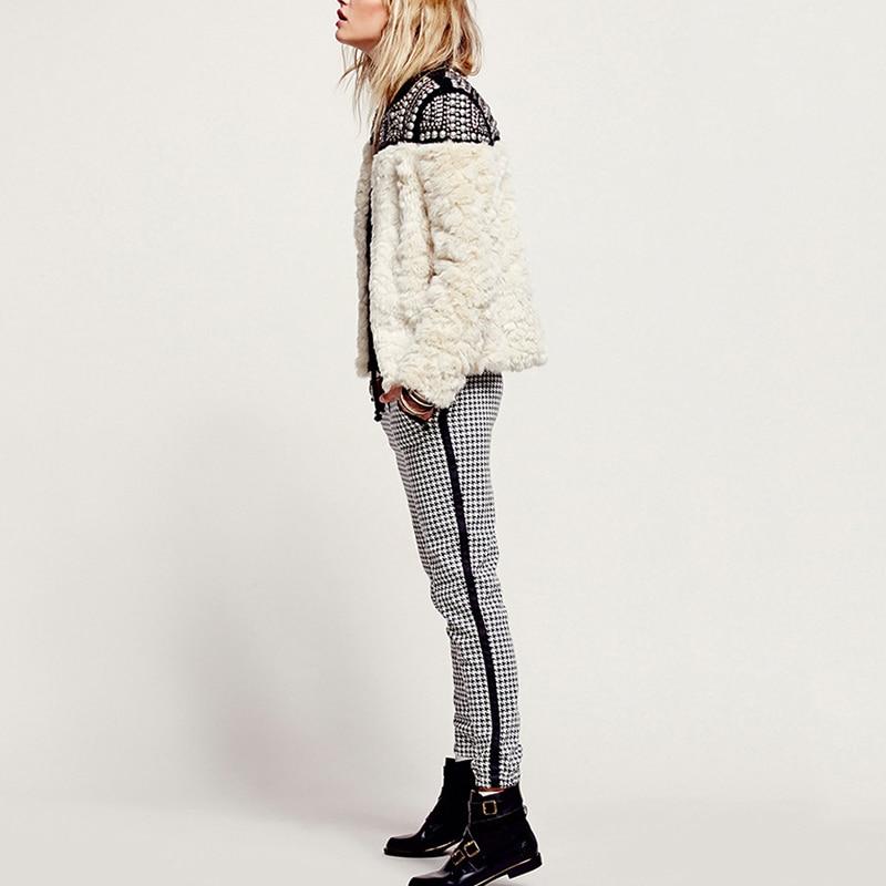 Fashion Riveted Fur Women's Jacket