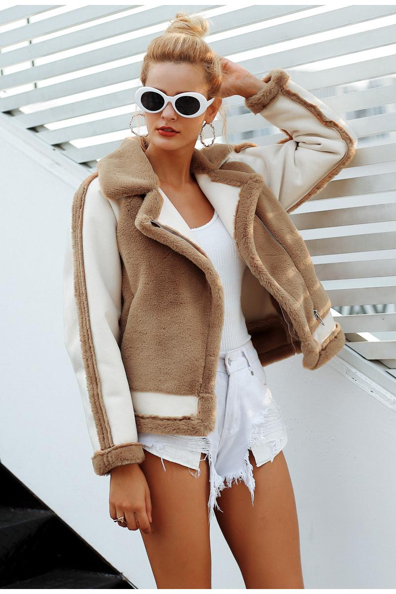 Women's Furry Zipper Jacket