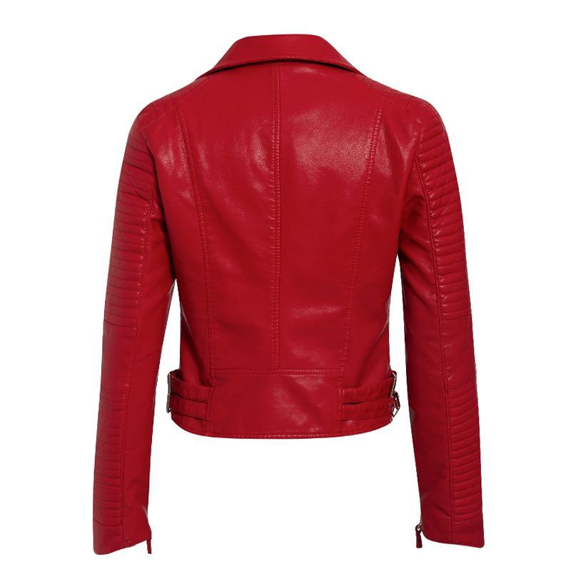 Classic PU Leather Multicolor Jacket