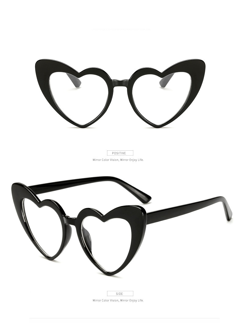 Women's Heart Shaped Sunglasses