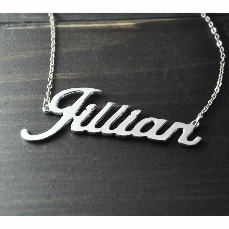 Name Shaped Pendant Necklace