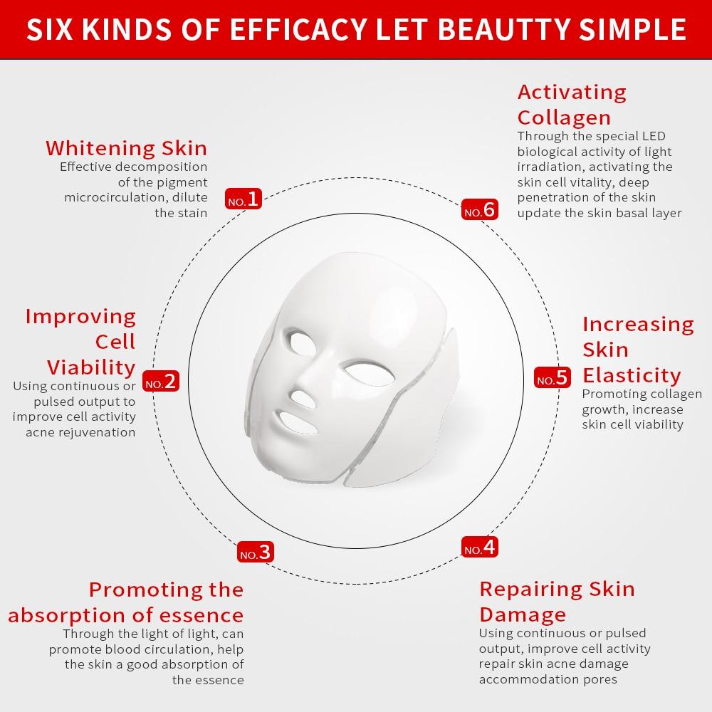 7 Colors LED Facial Mask