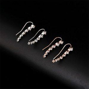 Women's Climber Crystal Earrings
