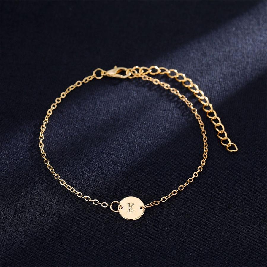 Women's Letter Shaped Gold Bracelet