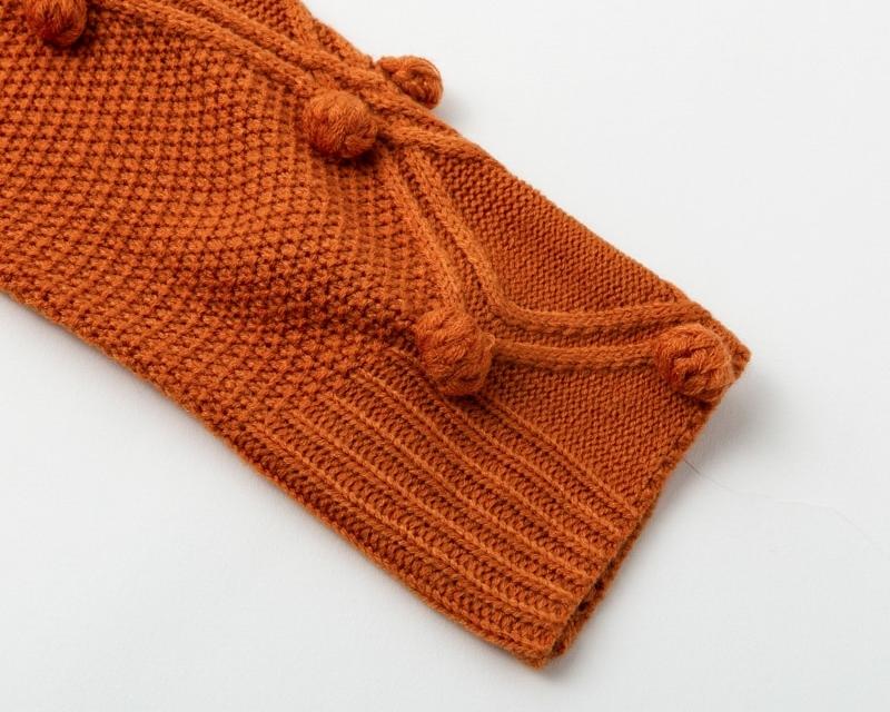 Women's Turtleneck Pom-Poms Decorated Sweater