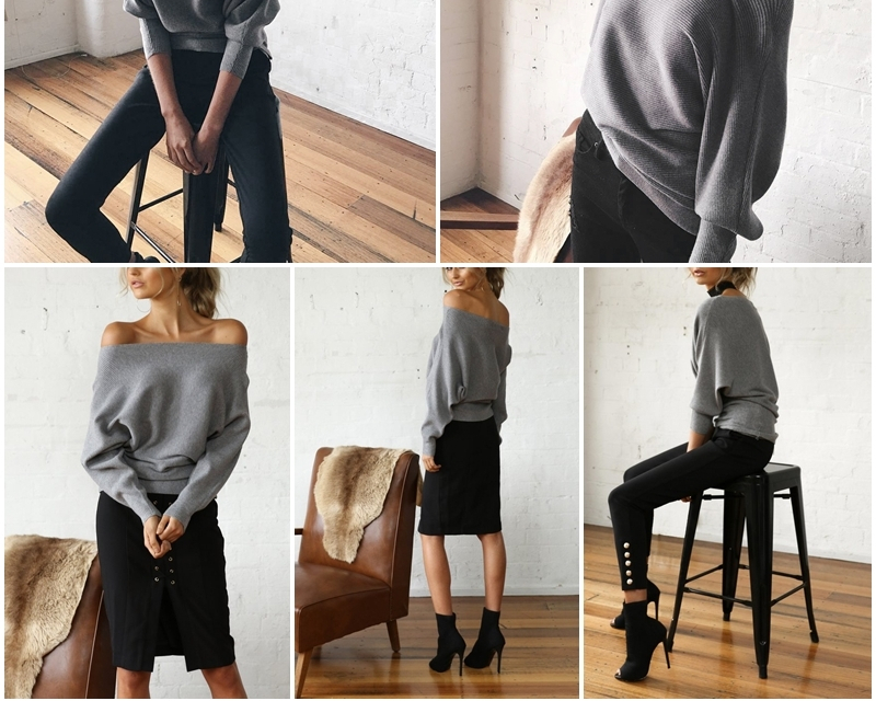 Women's Off Shoulder Sweater