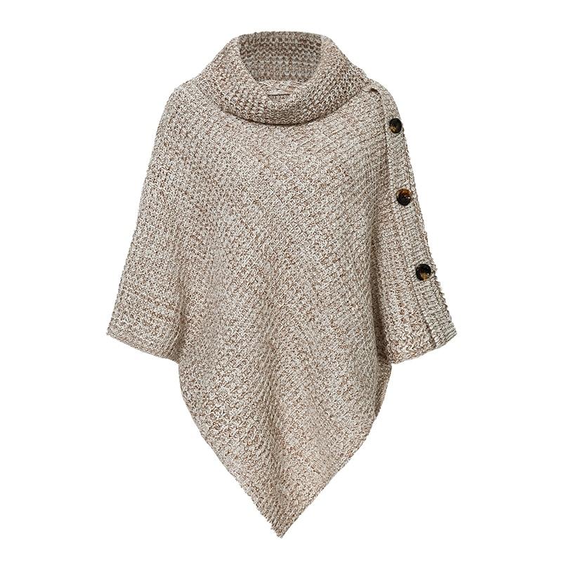 Women's Elegant Turtleneck Cloak Sweater