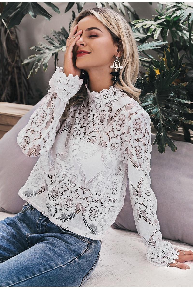 Elegant Flower Lace Blouse