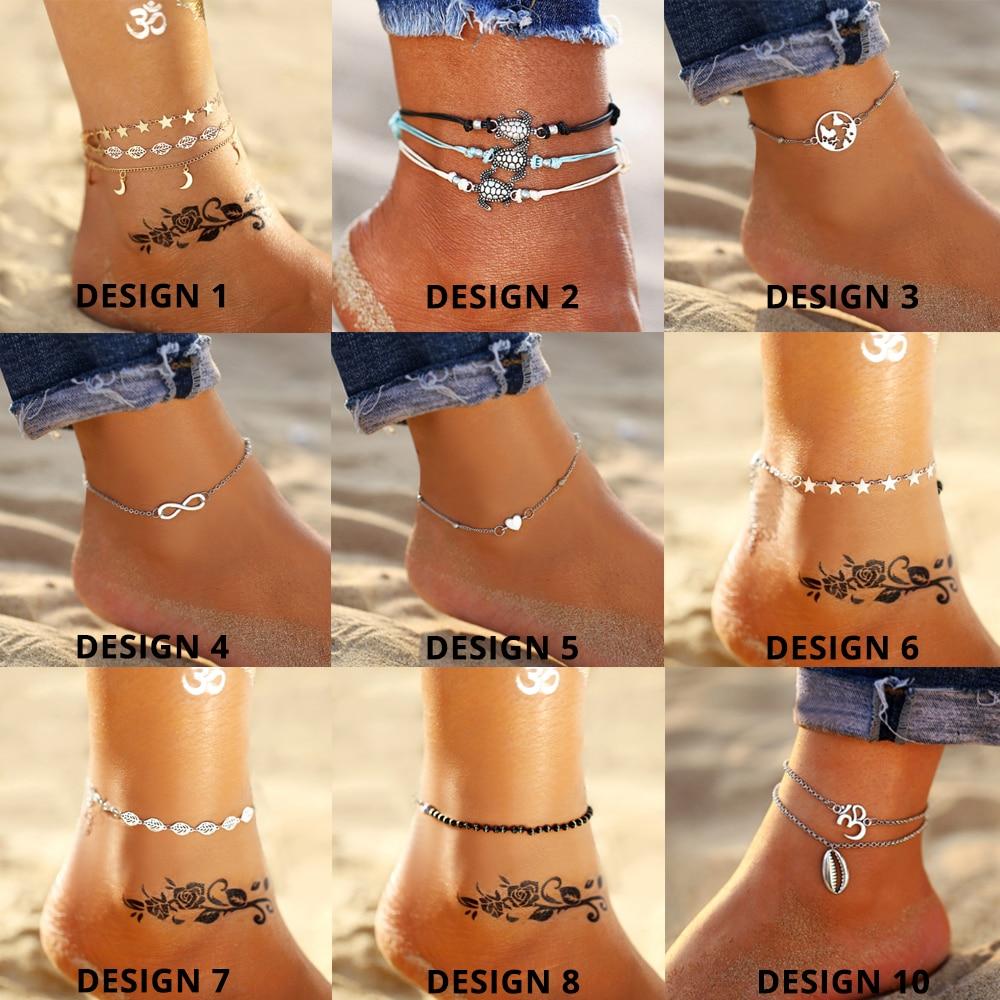 Women's Multilayered Anklet