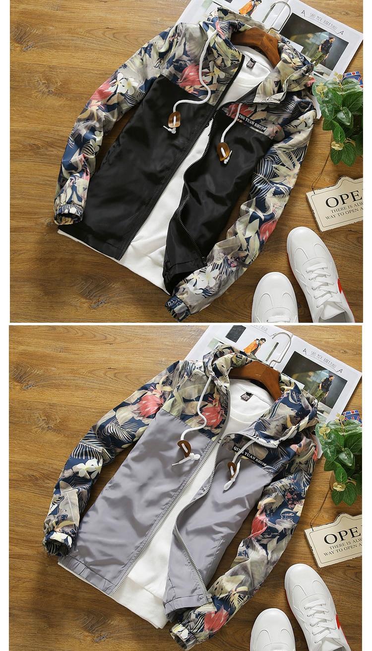 Women's Hooded Ploral Printed Down Jacket