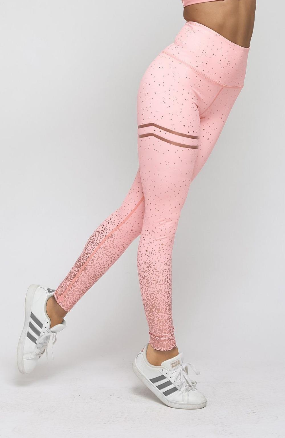 Women's High Waist Striped Leggings