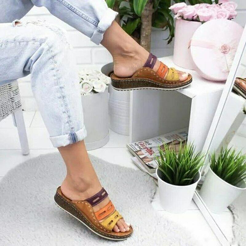 Women's Low Heels Open Sandals